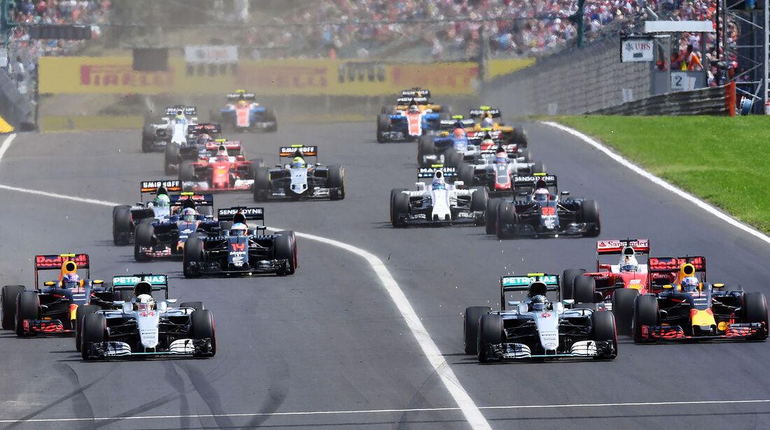 Start - Formel 1 - GP Ungarn - 24. Juli 2016