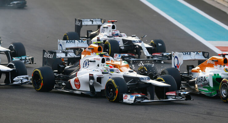 Start GP Abu Dhabi Crash Hülkenberg 2012