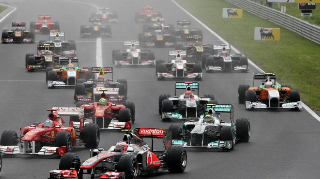 Start - GP Ungarn - Formel 1 - 31.7.2011 - Highlights