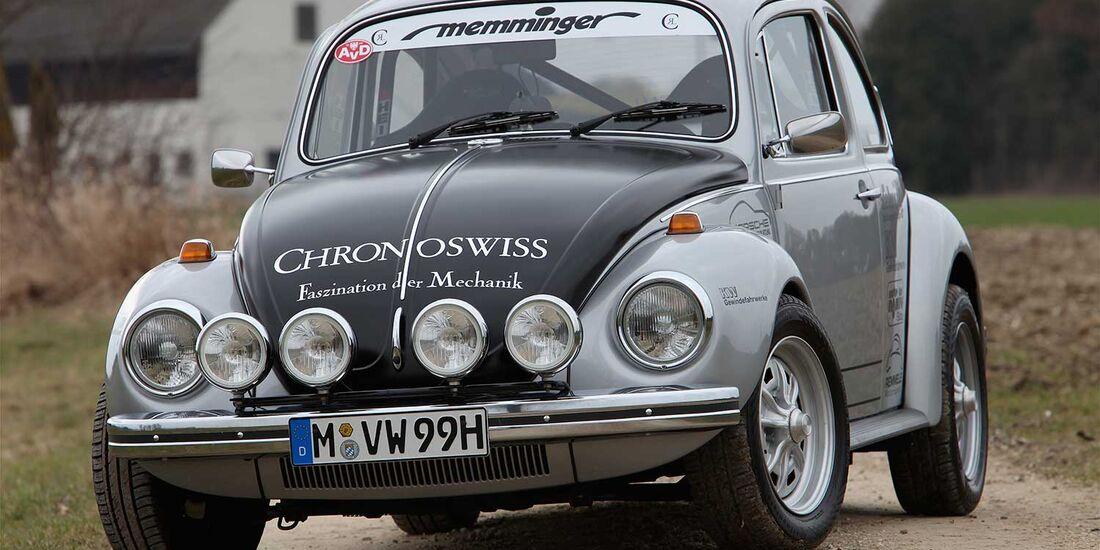 Startnummer 128: Schorsch Memminger und Christoph Wellmann, Volkswagen Käfer 1302 S, 2,2 Liter, 4-Zyl. Boxer, 136 PS, Baujahr 1971.