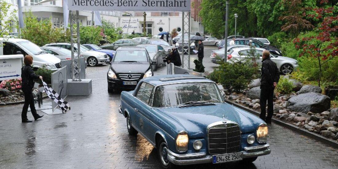 Stern-Fahrt im Regen