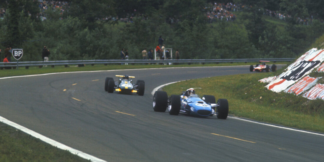 Stewart vor Rindt - 1968 GP Frankreich