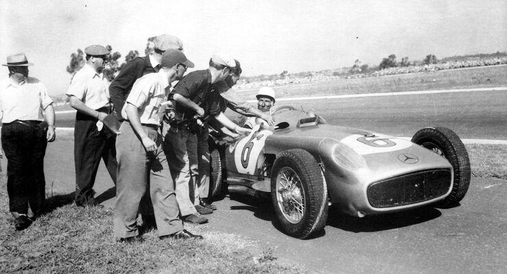 Stirling Moss - Mercedes-Benz W 196 R Monoposto - GP Argentinien 1955 - Buenos Aires