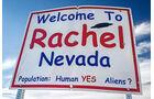 Straßenschild, Rachel, Nevada
