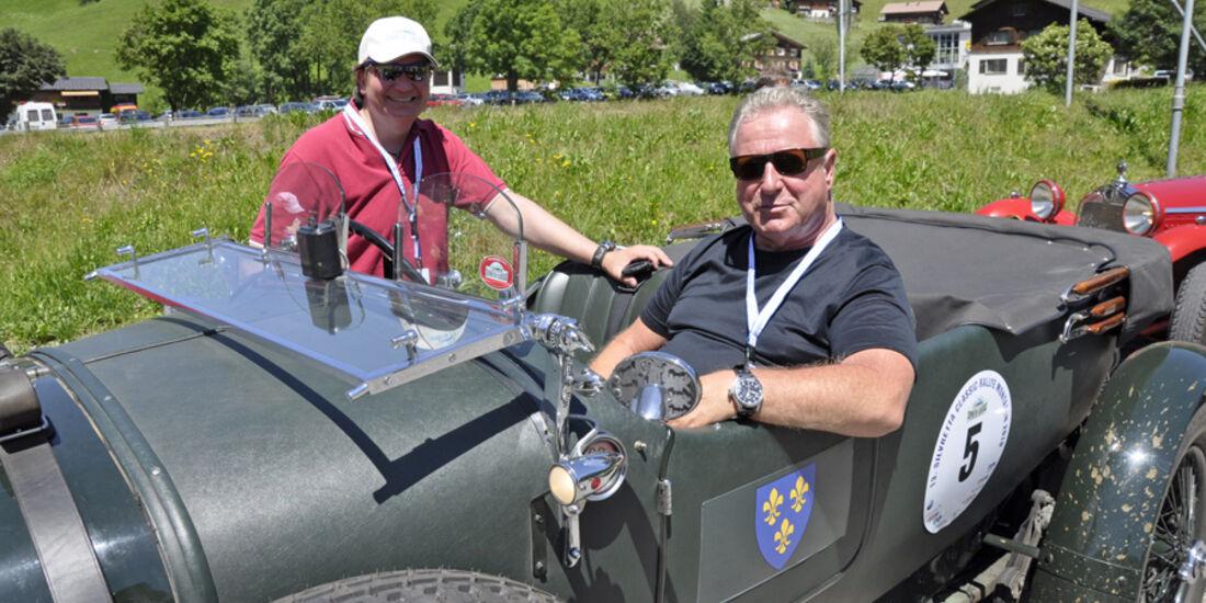 Stutz Bearcat bei der Silvretta Classic 2010 - Wolfgang Rücker und Thomas Aukamm