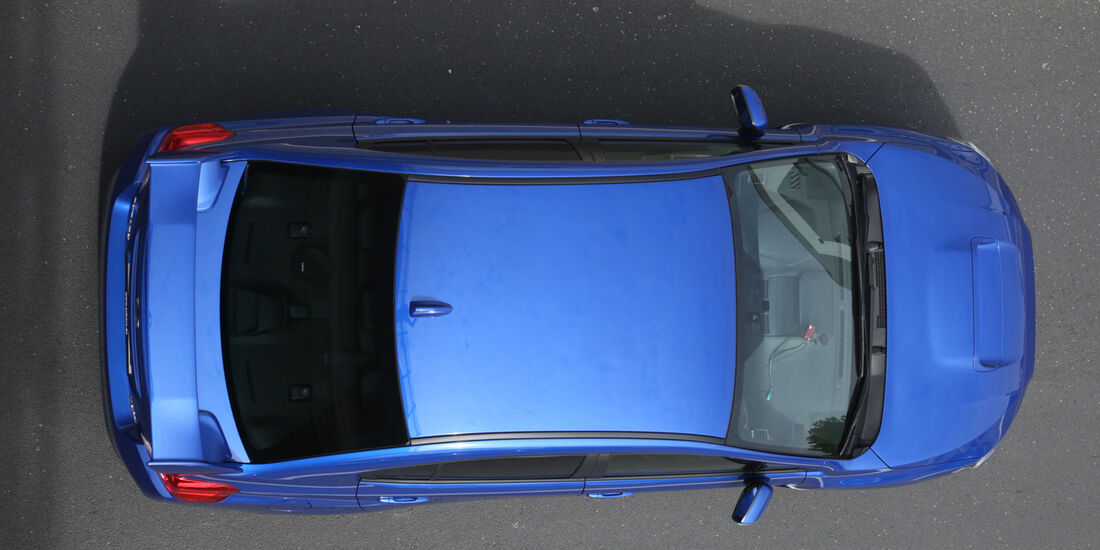 Subaru WRX STI, Draufsicht