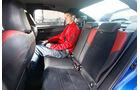 Subaru WRX STI, Fondsitz, Beinfreiheit