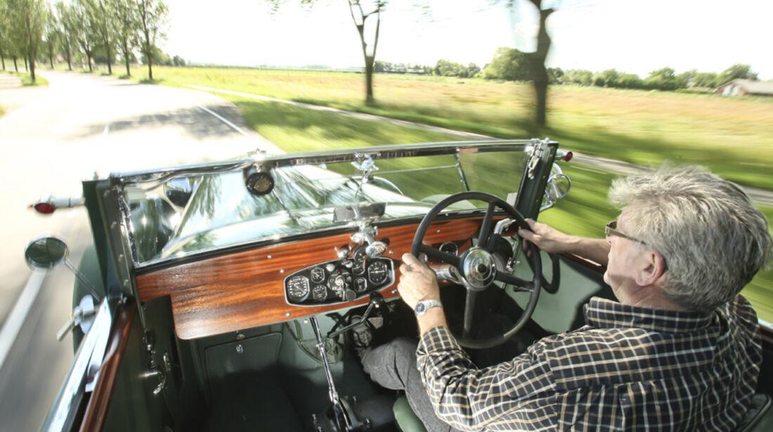 Tatra T80, Cockpit, Lenkrad