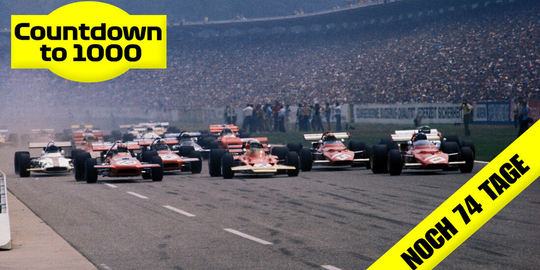 Teaser - 1.000 GPs - Jo Siffert - March 701 - Jochen Rindt - Lotus 72C - Jacky Ickx - Ferrari 312B - Hockenheim 1970