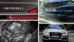 Teaser BMW M760Li, Mercedes-AMG S 65, Alpina B7, Audi S8 plus