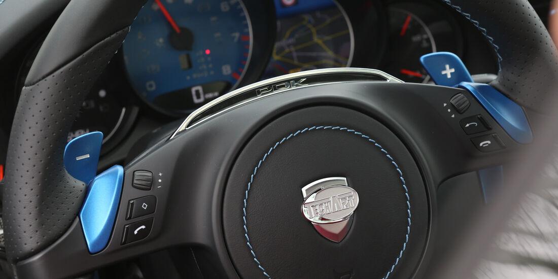 Techart Porsche 911 Turbo S, Lenkrad, Rundinstrumente