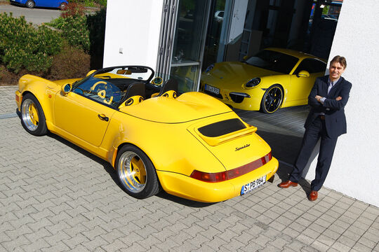 Techart-Porsche 964 Speedster, Techart-Porsche 991 Carrera S, Heckansicht