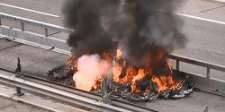Tesla Model S brennt