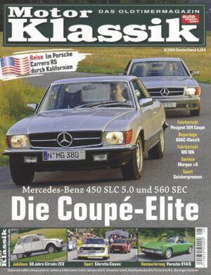 Titel Motor Klassik, Heft 08/2008