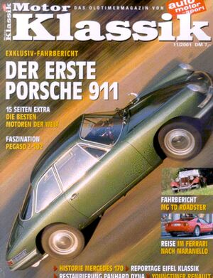 Titel Motor Klassik, Heft 11/2001