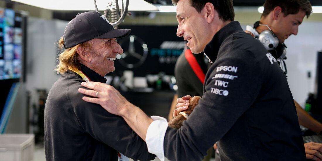 Toto Wolff - Emerson Fittipaldi - GP Brasilien 2018 - Rennen