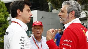 Toto Wolff & Maurizio Arrivabene - F1 2017