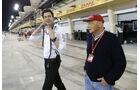 Toto Wolff & Niki Lauda - Formel 1 - GP Bahrain - 2. April 2016
