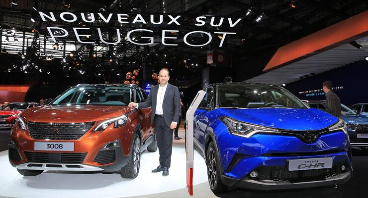 Toyota C-HR gegen Peugeot 3008 Paris 2016