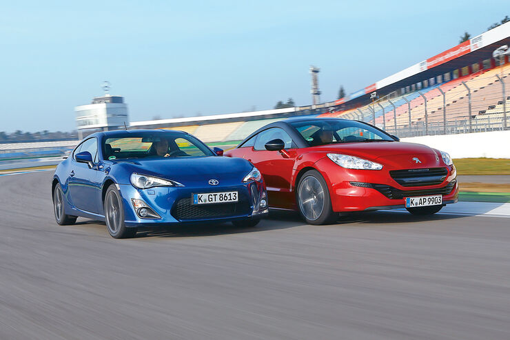 Toyota GT86, Peugeot RCZ 1.6 200 THP, Frontansicht