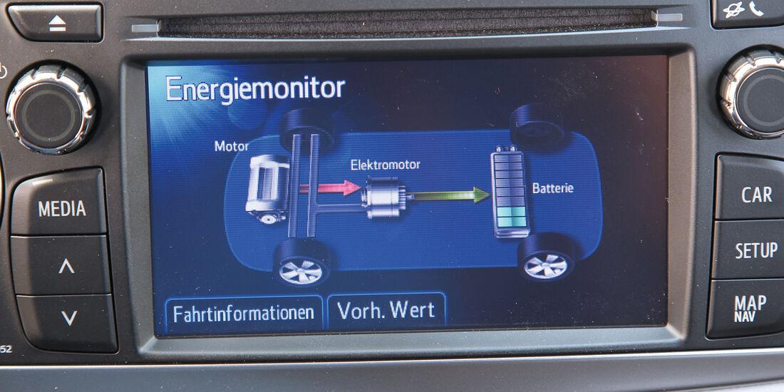 Toyota Yaris, Bildschirm