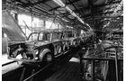 Trabant, Werkstätte, Fließband