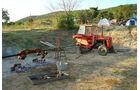 Traktor-Grill