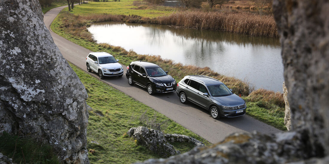 VGL ams_26_2017 VW Tiguan Allspace, Skoda Kodiaq, Nissan X-Trail SUV
