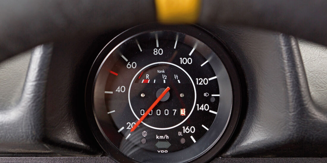 VW 1303 Rallye, Detail, Tacho, Serienteil