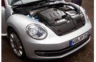 VW Beetle 1.6 TDI, Motorhaube, Motor