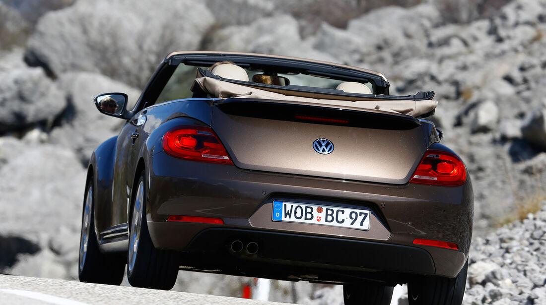 VW Beetle Cabrio 2.0 TDI, Heckansicht