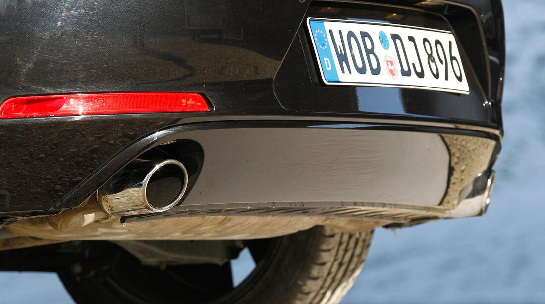 VW Beetle Sport, Auspuff
