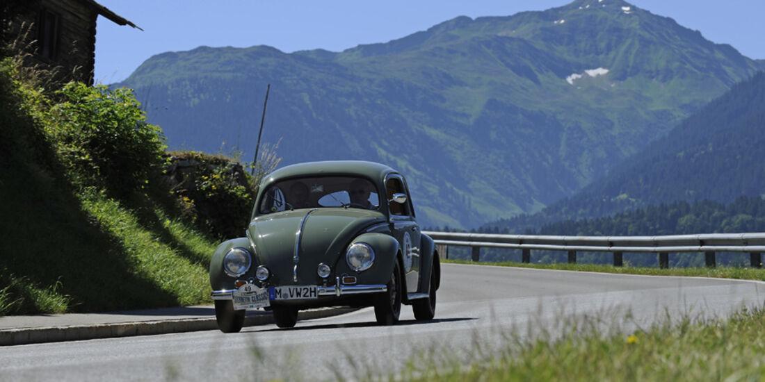 VW Brezelkäfer bei der Silvretta Classic 2010