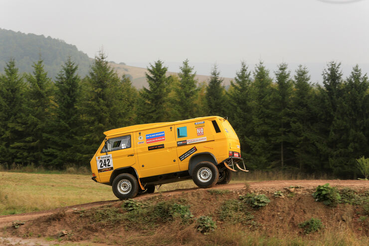 Prototyp auf Basis des VW Bus T3: Der irre Rallye-Bus