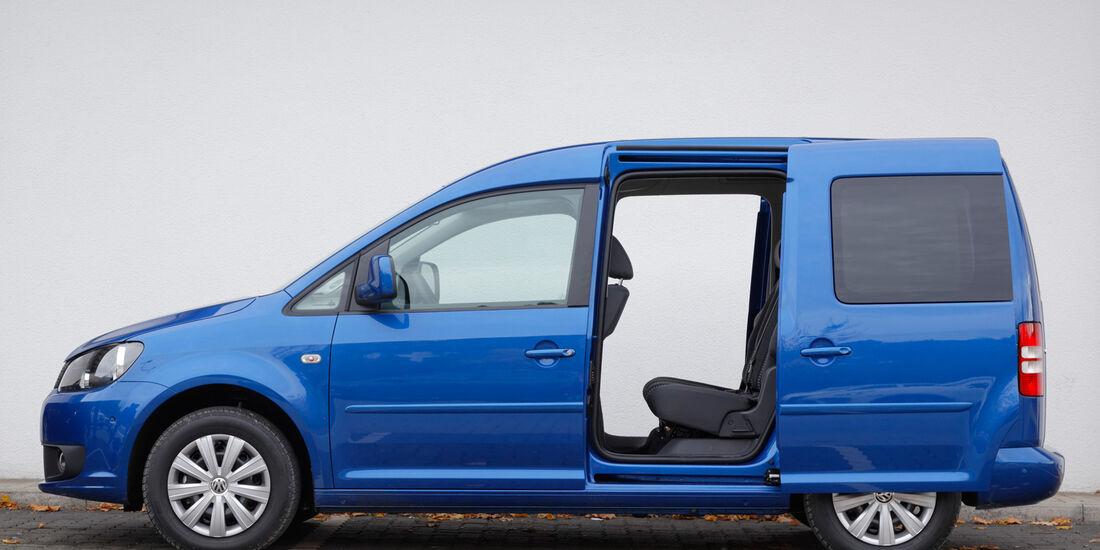 VW Caddy, Seitenansicht, Schiebetür