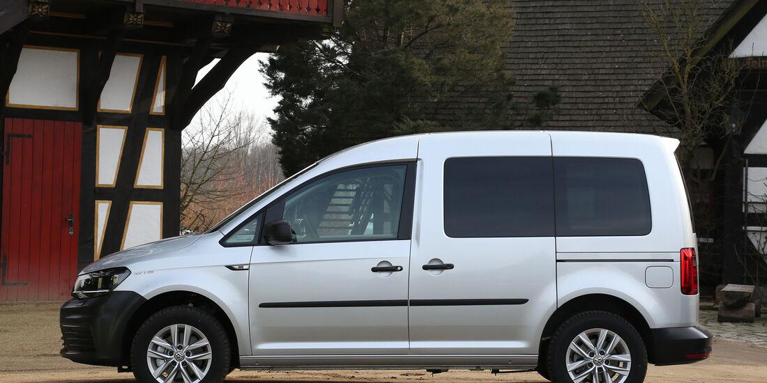 VW Caddy, Seitenansicht