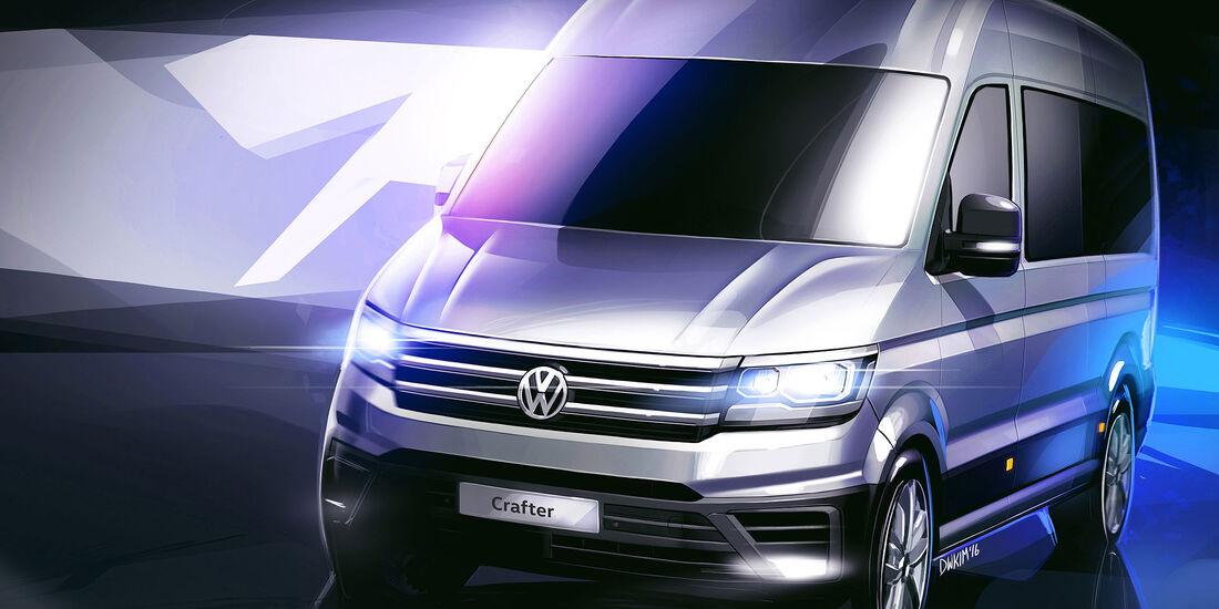 VW Crafter Designskizze