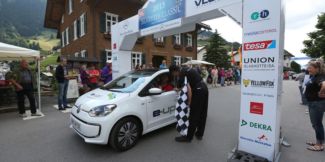 VW E-Up, Seitenansicht, Start