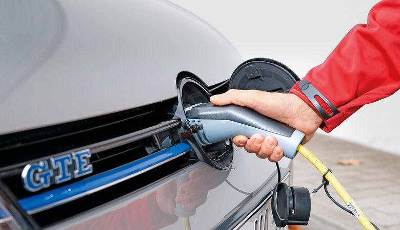 VW Golf GTE, Ladekabel, Ladevorgang