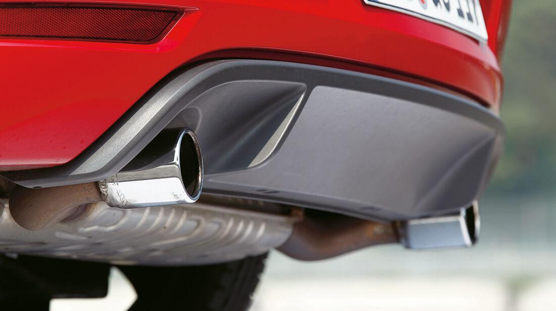 VW Golf GTI Cabrio, Auspuff