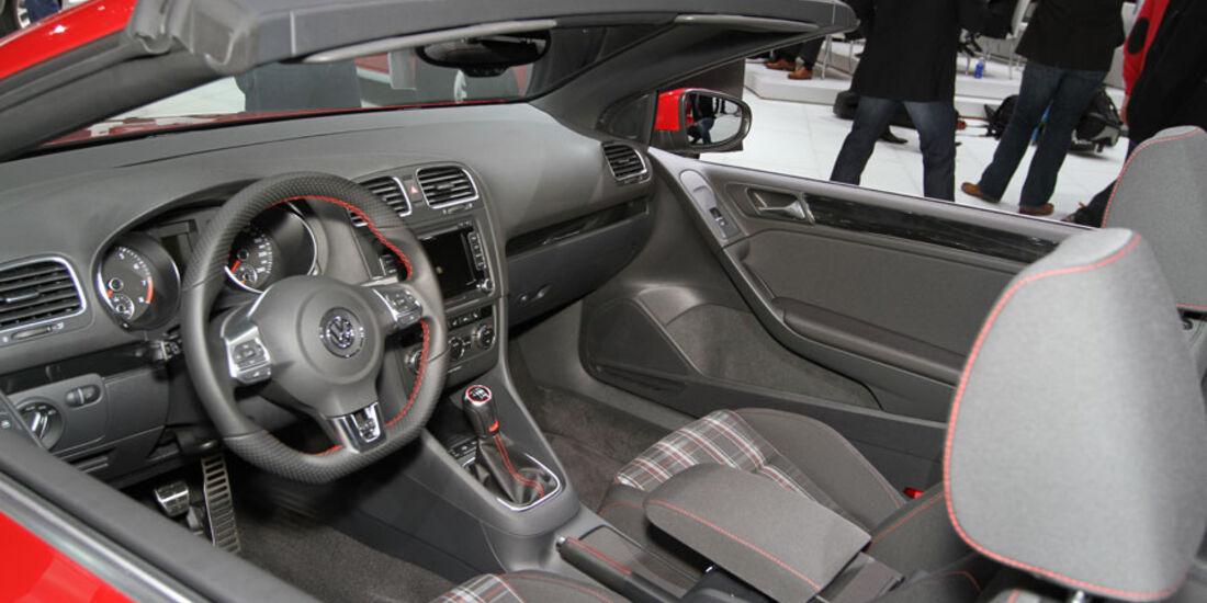 VW Golf GTI Cabrio Autosalon Genf 2012, Messe