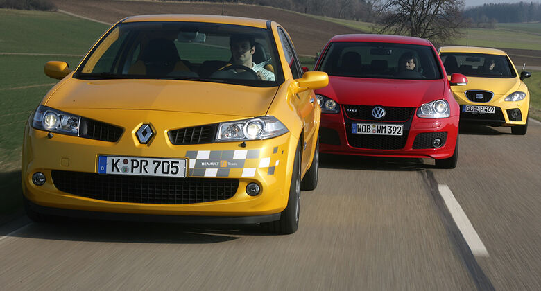 VW Golf GTI Edition 30, Renault Mégane F1-Team R26, Seat Leon Cupra