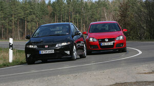 VW Golf GTI, Honda Civic Type R