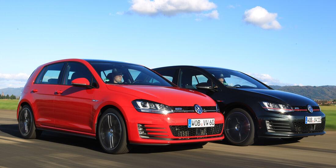 VW Golf GTI Performance, VW Golf GTD, Frontansicht