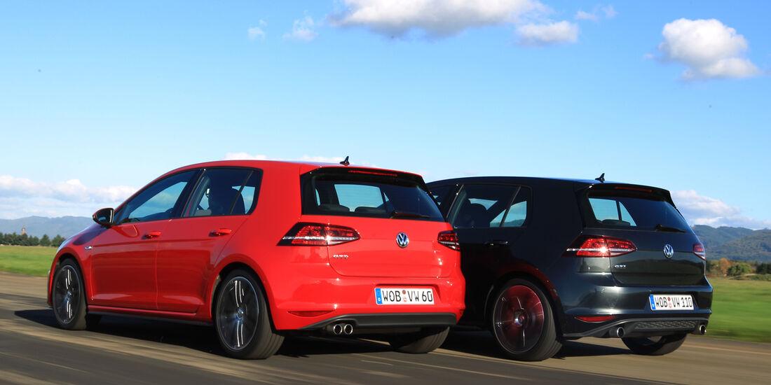 VW Golf GTI Performance, VW Golf GTD, Heckansicht