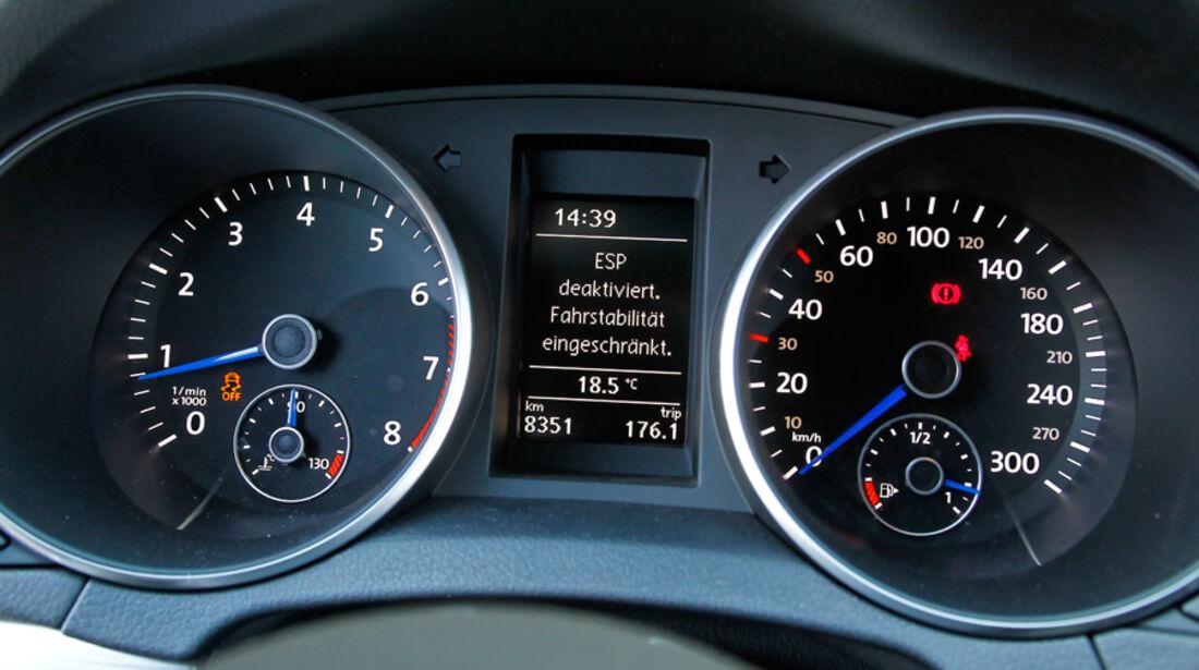 VW Golf R, Detail, Innenraum, Tacho