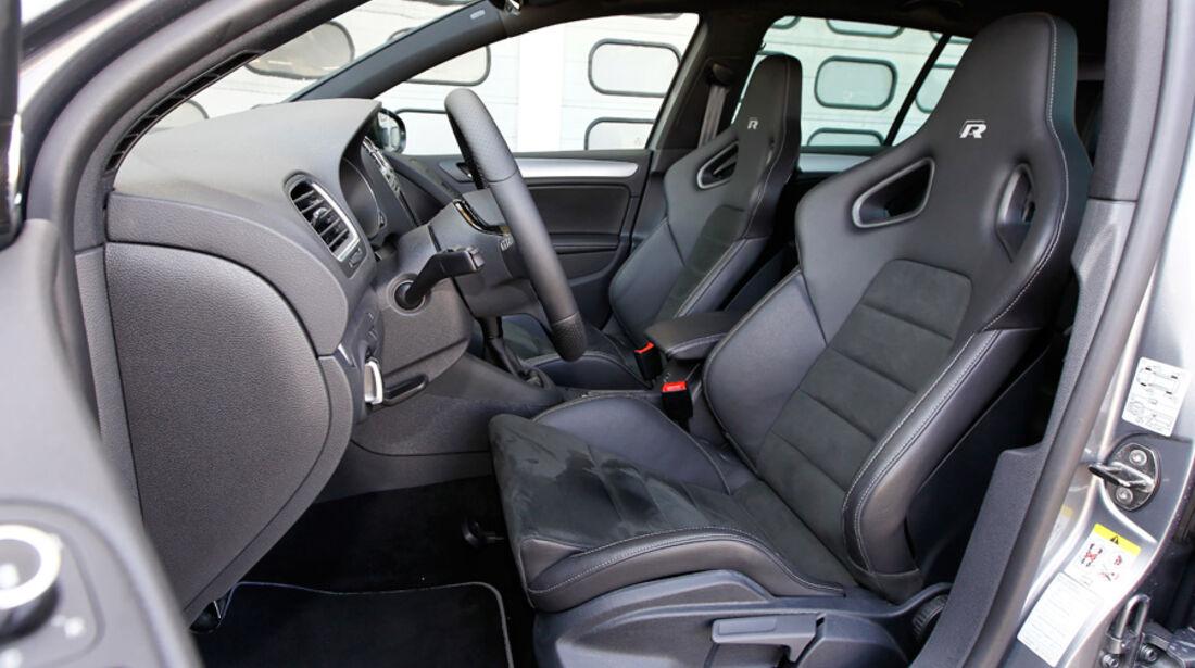 VW Golf R, Detail, Innenraum, Vordersitz