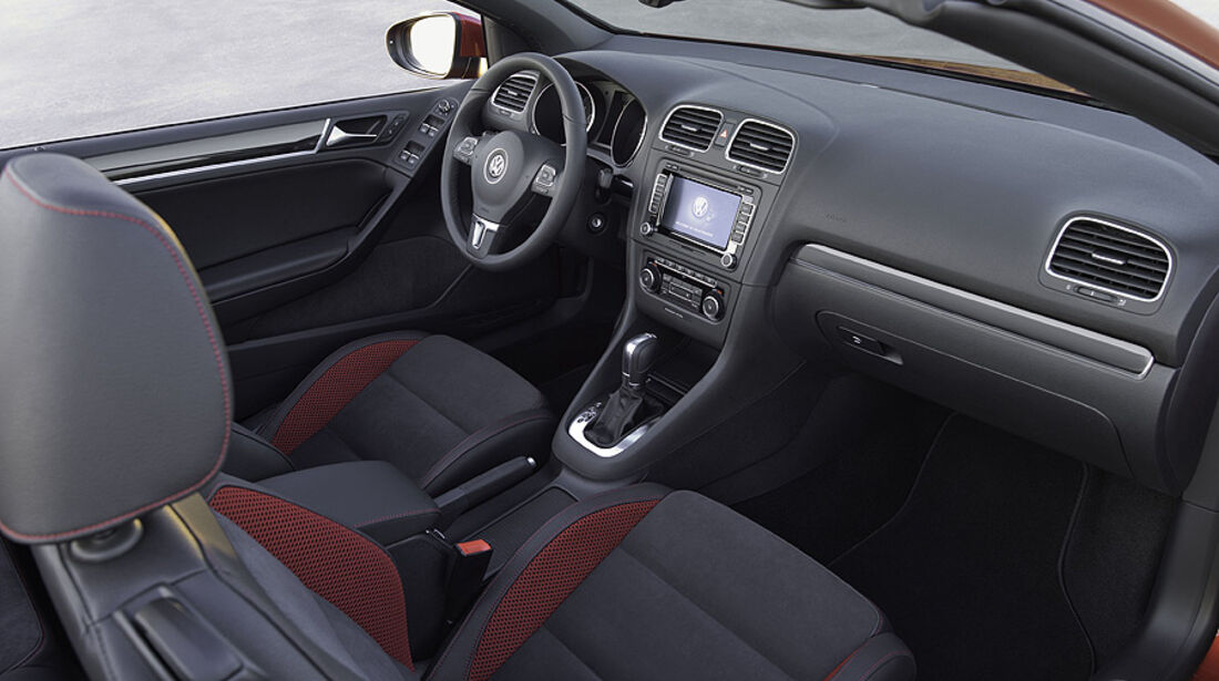 VW Golf VI Cabrio, Innenraum