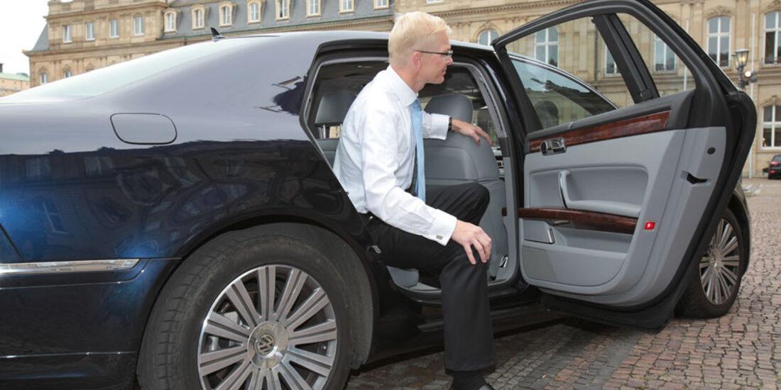 VW Phaeton, Fondtür, Einstieg, Ausstieg