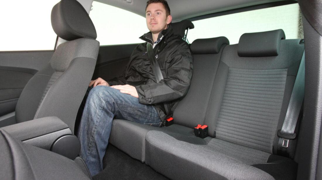 VW Polo 1.2 BMT, Rücksitzbank